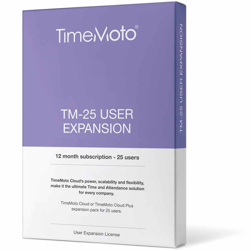 TimeMoto Cloud User Expansion (For use with Cloud software only)